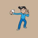Selfie man Royalty Free Stock Image