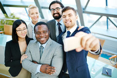 Selfie of managers Royalty Free Stock Photo