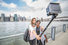 Selfie in Manhattan Stockfoto