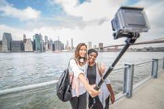 Selfie at Manhattan Stock Photo