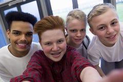 Selfie med knatte royaltyfri fotografi