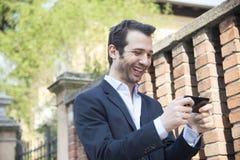 Selfie miastowy mężczyzna Fotografia Royalty Free