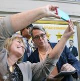 Selfie mit Matthew Broderick Stockbild