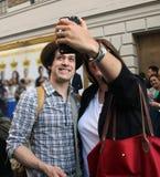 Selfie mit T r ritter Lizenzfreies Stockfoto
