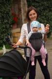 Selfie mit Tochter Stockfoto