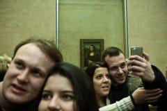 Selfie Mona Лиза Стоковые Фото