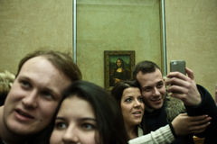Selfie Mona Lisa Stock Photos