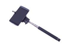 Selfie monopod en cellphone Stock Foto's