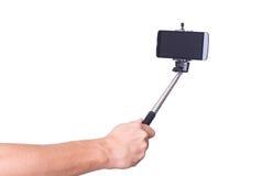 Selfie monopod ter beschikking Royalty-vrije Stock Afbeelding