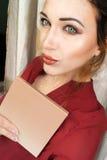 Selfie mooi jong slank meisje Royalty-vrije Stock Afbeelding