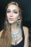 Selfie mooi jong slank meisje Royalty-vrije Stock Foto's