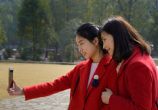 Selfie stock photography