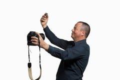 Selfie multiplo Fotografia Stock Libera da Diritti