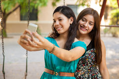 Selfie with my best friend Stock Photography