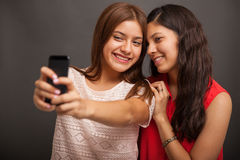 Selfie with my best friend Stock Images
