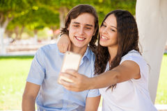 Selfie with my boyfriend Royalty Free Stock Photography