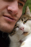 Selfie with my human! Royalty Free Stock Image