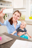 Selfie with my little son Royalty Free Stock Photos
