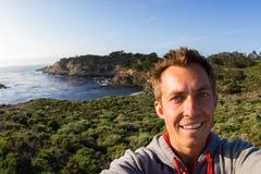 Selfie na wybrzeżu fotografia royalty free