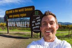 Selfie in Napa Valley Stockfotos