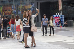 Selfie is new cultural trend Stock Photography