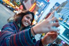 Selfie a New York fotografie stock