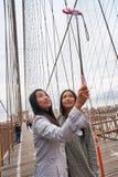 Selfie in New York stock afbeeldingen