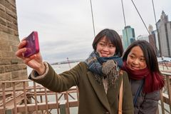 Selfie in New-York royalty free stock photography