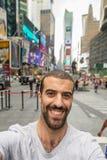 Selfie no Times Square imagem de stock royalty free