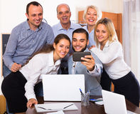 Selfie at office Stock Images