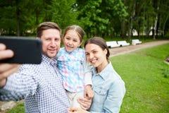 Selfie in parco Immagine Stock