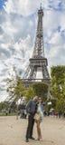 Selfie in Parijs stock foto's