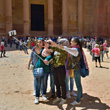 Selfie in Petra Royalty Free Stock Photo