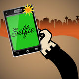 Selfie photo Stock Images