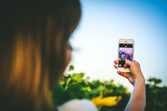 Selfie with a photographer Royalty Free Stock Image