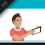Selfie photography design Stock Images