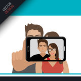 Selfie photography design Royalty Free Stock Image