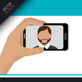 Selfie photography design Stock Photos