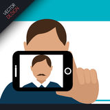 Selfie photography design Royalty Free Stock Photography