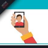 Selfie photography design Royalty Free Stock Photos