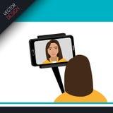 Selfie photography design Stock Photography