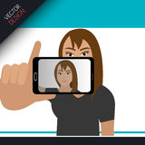 Selfie photography design Royalty Free Stock Photo
