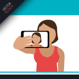 Selfie photography design Royalty Free Stock Images
