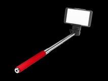 Selfie pinnemonopod Fotografering för Bildbyråer