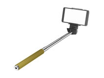 Selfie pinnemonopod Royaltyfri Fotografi
