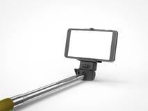 Selfie pinnemonopod Arkivbild