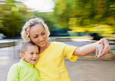 Selfie Portrait Family Royalty Free Stock Photography