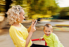 Selfie Portrait Family Royalty Free Stock Images