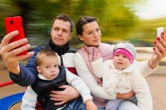 Selfie Portrait Family Stock Images