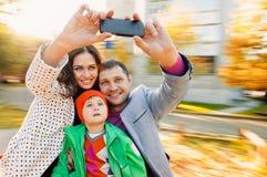 Selfie Portrait Family Royalty Free Stock Photos